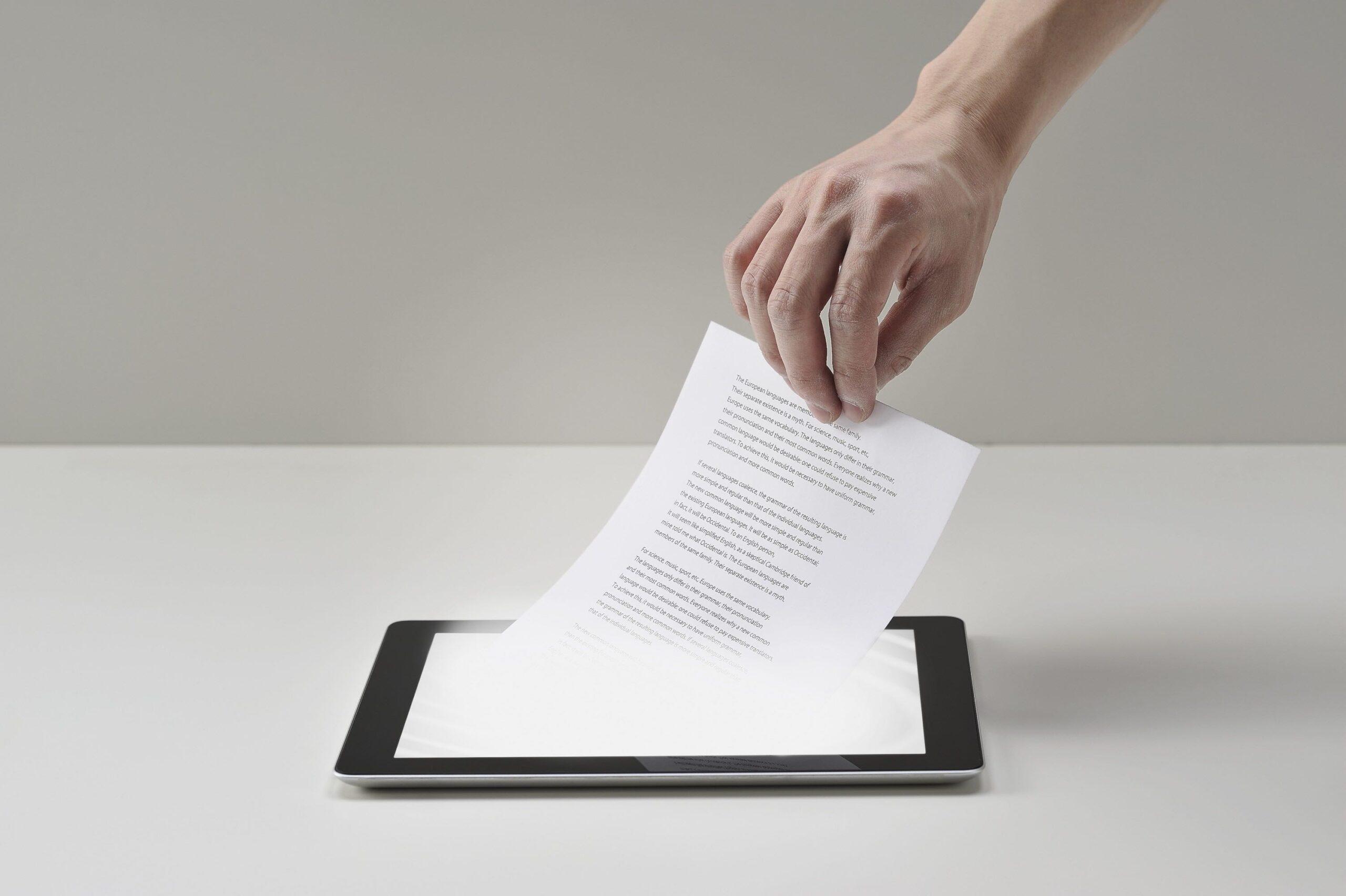Documento digital x documento físico: saiba as diferenças!